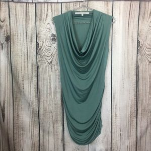 Beautiful Rachel Roy Green Drape Neck Tank Top M